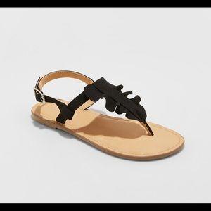 Cat&Jack Girls Black Sandals